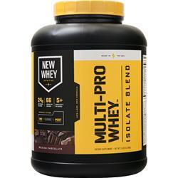 New Whey Nutrition Multi-Pro Whey Isolate Blend Belgian Chocolate 5 lbs