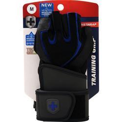 Harbinger WristWrap Training Grip Glove Black/Blue (M) 2 glove
