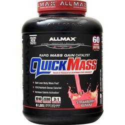 Allmax Nutrition QuickMass Strawberry Banana 6 lbs