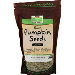 Now Raw Pumpkin Seeds 16 oz