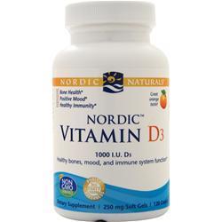 Nordic Naturals Nordic Vitamin D3 Orange 120 sgels