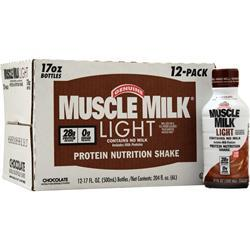 Cytosport Muscle Milk Light RTD Chocolate (17 fl oz) 12 bttls