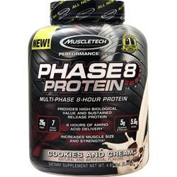 Muscletech Phase 8 - Multi Phase 8 Hour Protein Cookies and Cream 4.6 lbs