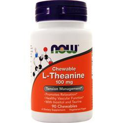 Now L-Theanine (100mg) 90 chews