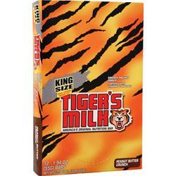 Tiger's Milk King Size Tiger's Milk Bar Peanut Butter Crunch 12 bars