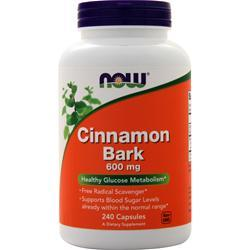 Now Cinnamon Bark (600mg) 240 caps