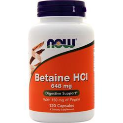 Now Betaine HCl 120 caps