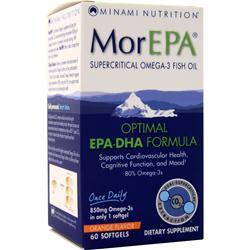 Minami Nutrition MorEPA Optimal EPA-DHA Formula Orange 60 sgels
