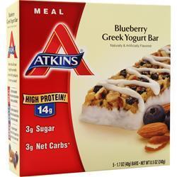 Atkins Meal Bar Blueberry Greek Yogurt 5 bars