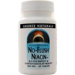 Source Naturals No-Flush Niacin (500mg) 60 tabs