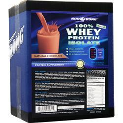 BodyStrong 100% Whey Protein Isolate - Natural Chocolate 10 lbs
