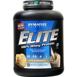 Dymatize Nutrition Elite 100% Whey Protein Cookies & Cream 5 lbs
