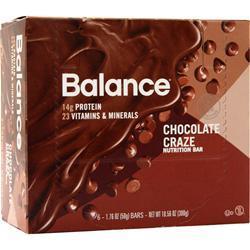 Balance Bar Balance Bar Chocolate Craze 6 bars