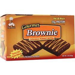 Chef Jay's Tri-O-Plex Brownies Luscious Peanut Butter 12 pckts
