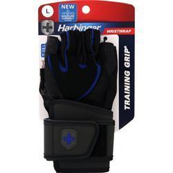 Harbinger WristWrap Training Grip Glove Black/Blue (L) 2 glove