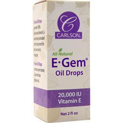 Carlson E-Gem Oil Drops - Natural Vitamin E 2 fl.oz