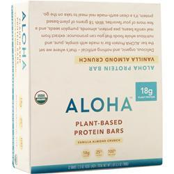 Aloha Plant-Based Protein Bar Vanilla Almond Crunch 12 bars