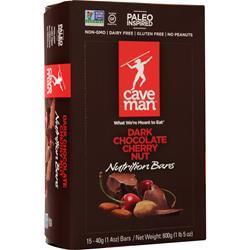 Caveman Foods Nutrition Bar Dark Chocolate Cherry Nut 15 bars