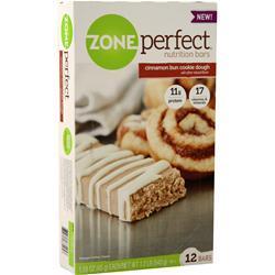 Zone Perfect Nutrition Bar Cinnamon Bun Cookie Dough 12 bars