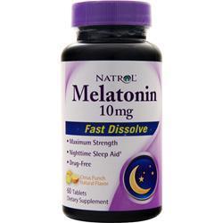 Natrol Melatonin (10mg) - Fast Dissolve Citrus Punch 60 tabs