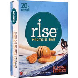 Rise Bar Rise Protein Bar Almond Honey 12 bars