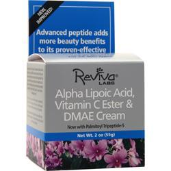 Reviva Labs Alpha Lipoic Acid, Vitamin C Ester and DMAE Cream w/ Palmitoyl Tripeptide-5 2 oz