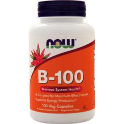 Now B-100 (High Potency B-Complex) 100 vcaps