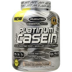 Muscletech Essential Series - Platinum 100% Casein Cookies and Cream 3.96 lbs