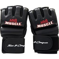 MMA Muscle Hybrid Fight Gloves Black - Regular 2 glove