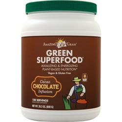 Amazing Grass Green Superfood Drink Powder Chocolate 28.2 oz
