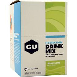 Gu Hydration Drink Mix Lemon Lime 24 pckts