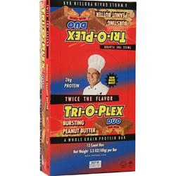 Chef Jay's Tri-O-Plex Duo Bar Bursting Peanut Butter 12 bars