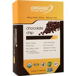 Organic Food Bar Raw Bar Chocolate Chip 12 bars