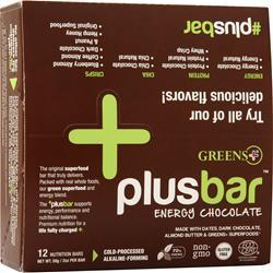 Greens Plus Plus Bar Energy Chocolate 12 bars