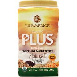 SunWarrior Classic Plus Organic Raw Plant-Based Protein Natural 2.2 lbs
