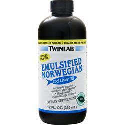 TwinLab Emulsified Norwegian Cod Liver Oil (liquid) Mint 12 fl.oz