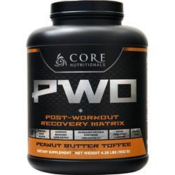 Core Nutritionals Core PWO - Post Workout Recovery Peanut Butter Toffee 4.26 lbs