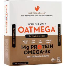 Boundless Nutrition Oatmega Grass Fed Whey Bar Brownie Crisp 12 bars