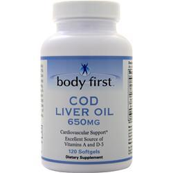 Body First Cod Liver Oil (650mg) 120 sgels