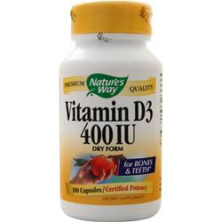 Nature's Way Vitamin D3 (400 IU) Dry Form 100 caps