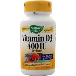 Nature's Way Vitamin D3 (400 IU) Dry Form 100 caps