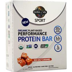 Garden Of Life Sport Organic Plant Based Performance Protein Bar On Sale At