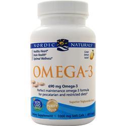 Nordic Naturals Omega-3 in Fish Gelatin Soft Gels Lemon 60 sgels