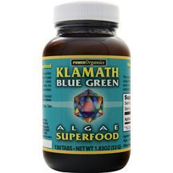 Power Organics Klamath Blue Green Algae Tabs 130 tabs