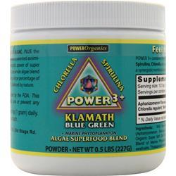 Power Organics Power 3+ Klamath Blue Green Powder .5 lbs