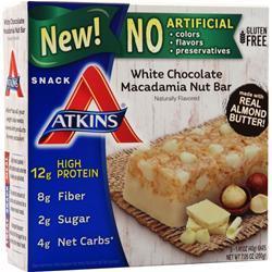 Atkins Snack Bar White Chocolate Macadamia 5 bars