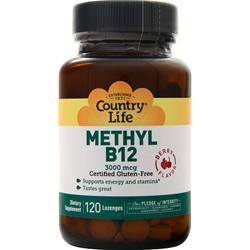 Country Life Methyl B12 (3000mcg) Berry 120 lzngs