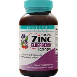 Quantum Thera Zinc - Elderberry Lozenges Raspberry 60 lzngs
