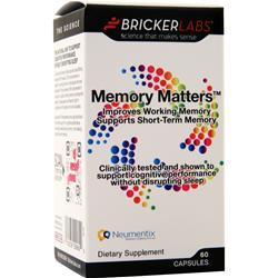 Bricker Labs Memory Matters 60 caps