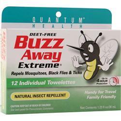 Quantum Buzz Away Extreme Towelettes 12 count